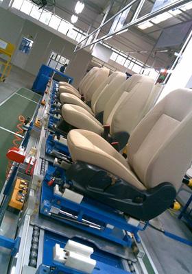 汽车座椅装配倍速链输送线