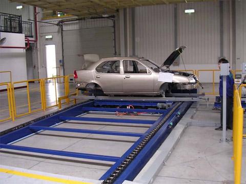 某汽车厂车厢车间链式输送系统