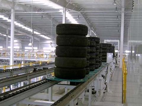 某汽车厂轮胎倍速链输送线