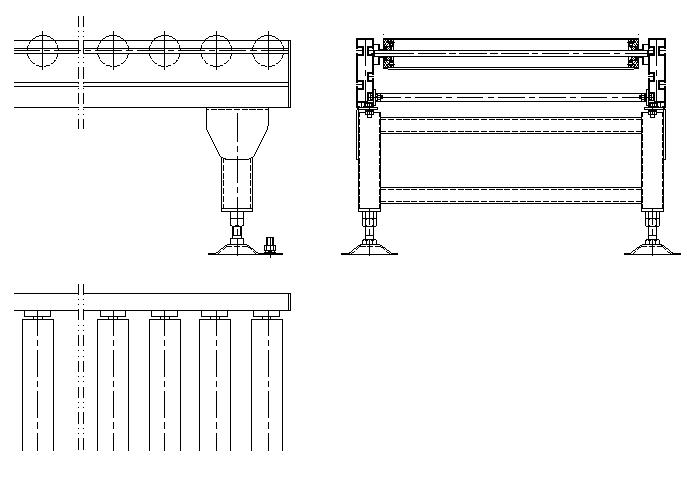 无动力辊道线设计CAD图