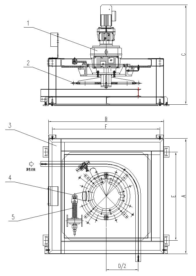 悬挂输送机角驱动装置