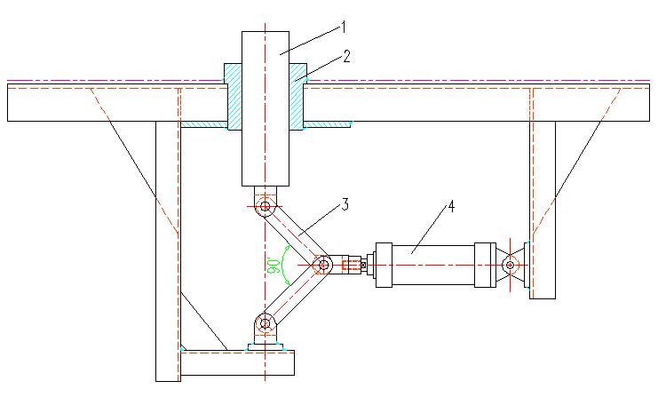 输送线挡位机构设计图